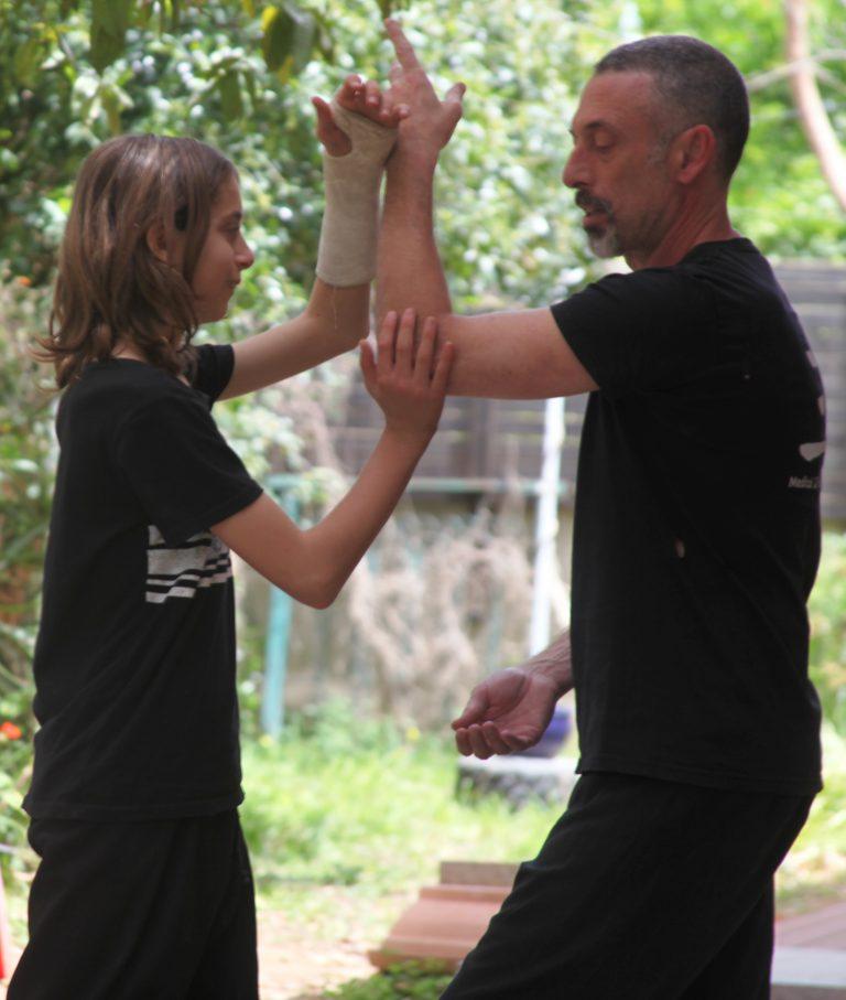 אמיר פרלמן מלמד טאי צ׳י פושינג הנדס